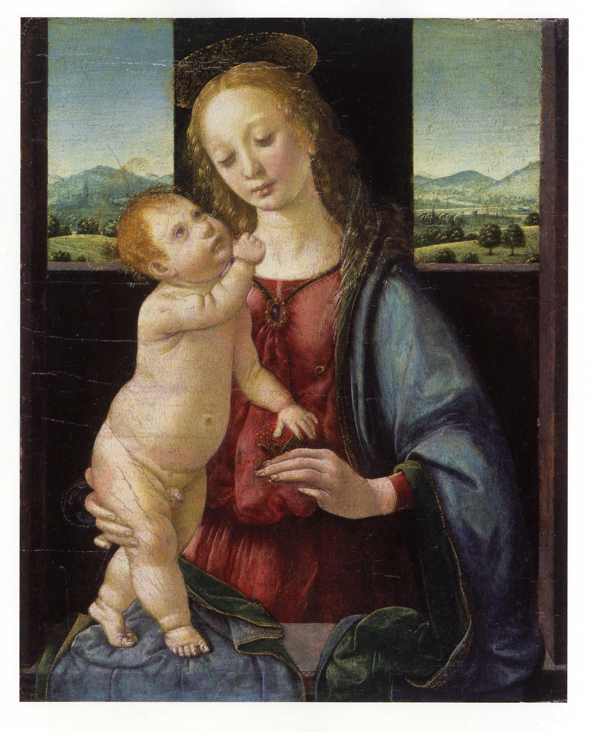 クレディ《ザクロの聖母子》ヒューストン美術館