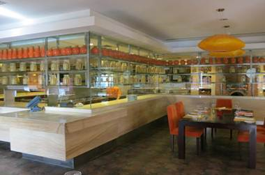 インターコン レストランミラン 朝食会場 ビュッフェコーナー