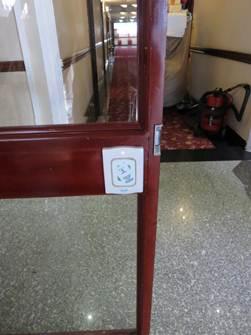 客室棟へのゲート