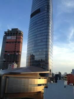 ホテルからビテクスコフィナンシャルタワー