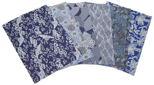 藍染風千代紙2