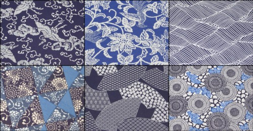 藍染風千代紙3