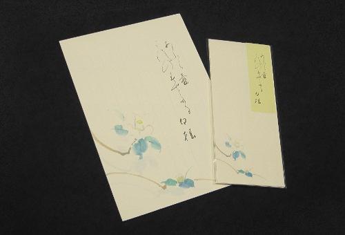 越前産鳥の子紙便箋(白椿)
