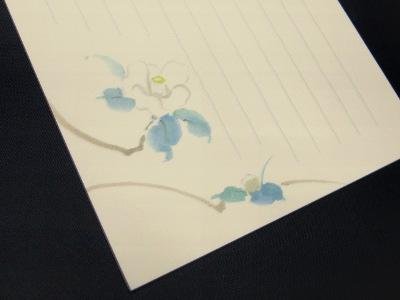 越前産鳥の子紙便箋(柄・白椿)