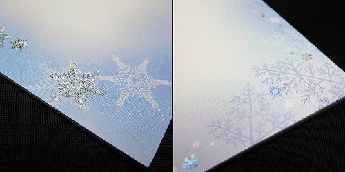 便箋_雪の結晶(柄)