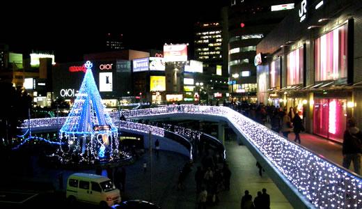 1000mの光の回廊@JR三宮南
