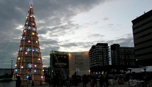 信和ツリー・クリスマスイベント@六甲アイランド