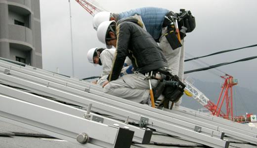 太陽光発電パネル取り付けを見に行った-3