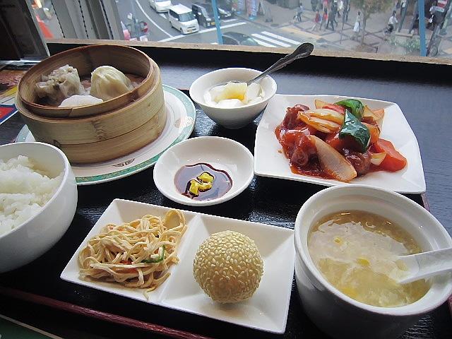 ランチパスポートで行った上海料理『蓮』の飲茶セット。