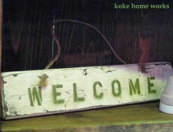 サインボード:WELCOME