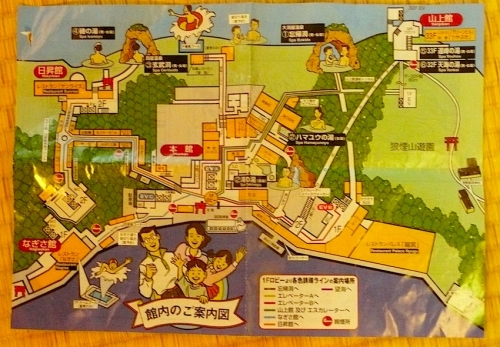 ホテル浦島の館内地図