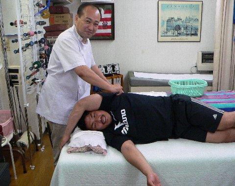 水山の肩を治療