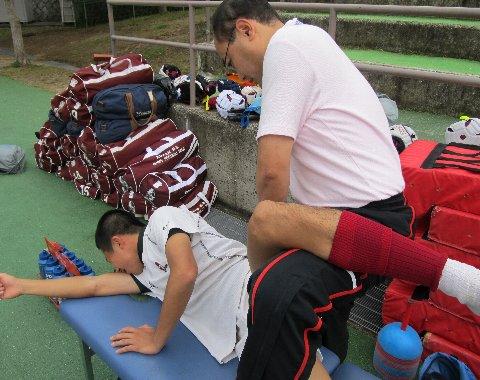 太田くんを治療