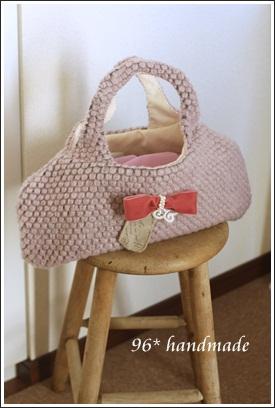ピンク ぽこぽこバッグ