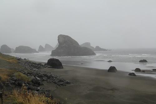 オレゴン海岸沿い