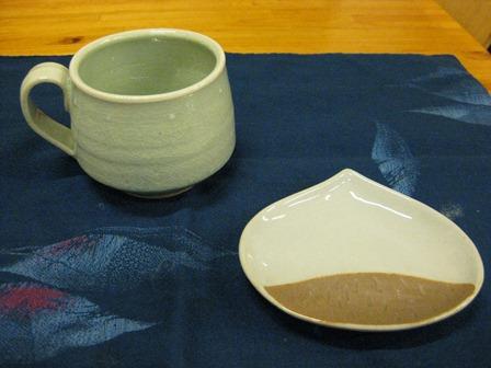 マグカップと栗皿