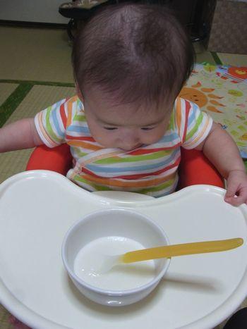 2012-07-21 初めての離乳食 (3)