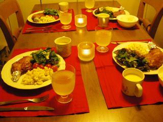 イブの晩御飯