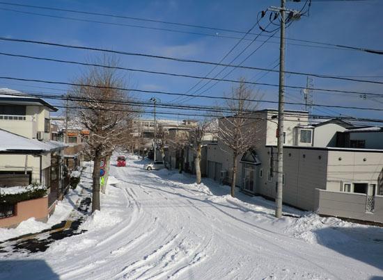 2012-12-24うちの前の雪景色②