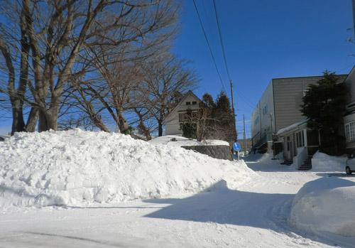 2013-1-28青空と雪②
