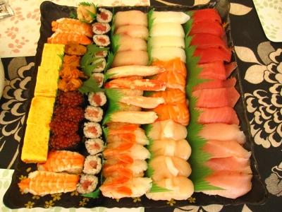 ようこそー!銚子丸へー!のお寿司。