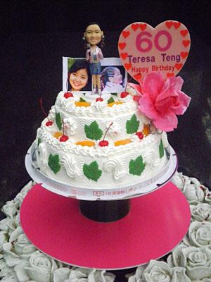 テレサ・テンさんのバースデーケーキ