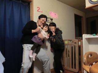 2歳の誕生日家族写真