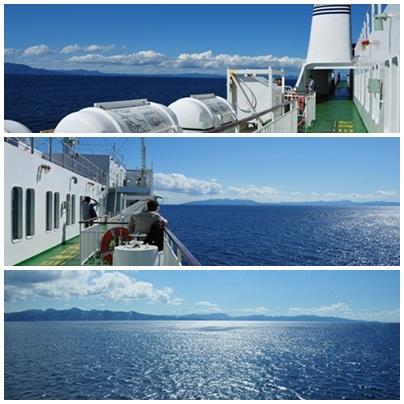 快晴の津軽海峡