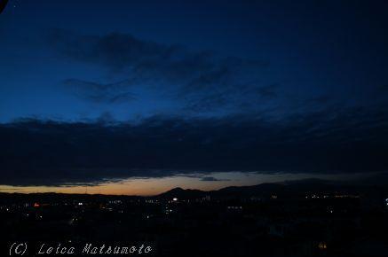 夜明け前を撮影