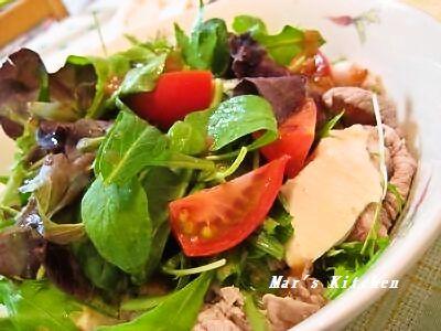5-15 豚しゃぶ 豆腐の野菜サラダ