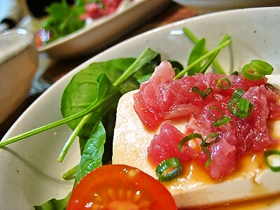 5-31タタキマグロ サラダ
