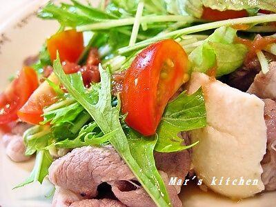 7-31 豚しゃぶ 豆腐の野菜サラダ
