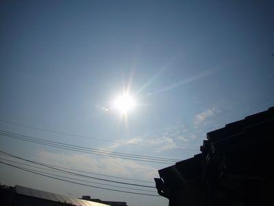 21日金環日食の朝1