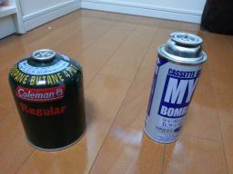 【必見キャンプ生活】 キャンプコールマン製品(OD缶)に普通のカセットコンロのガスボンベ(CB缶)を取付