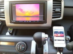 ipod touchのYoutune映像をヘッドレストモニターで見る