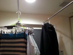 マンション洗濯物干し自作