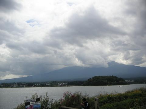 河口湖の雲
