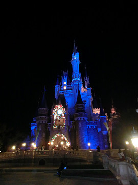 夜のシンデレラ城1