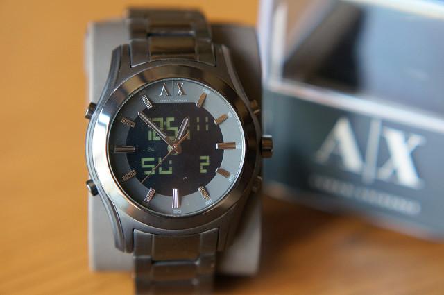 brand new b6f78 fc550 気まぐれ日記 ARMANI EXCHANGE AX2077 アナデジ腕時計