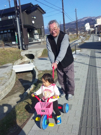 爺ちゃんと散歩