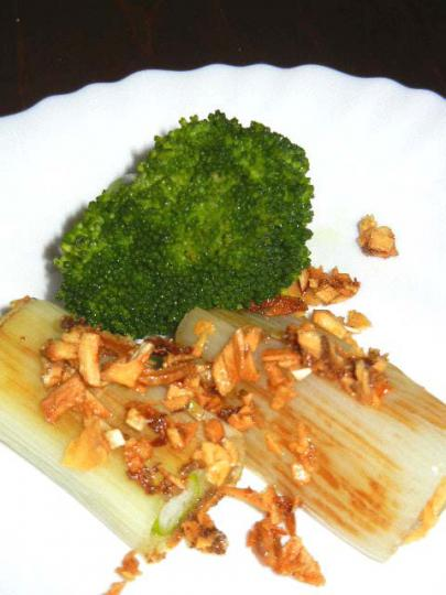 下仁田ねぎのオリーブオイル焼き・にんにく風味