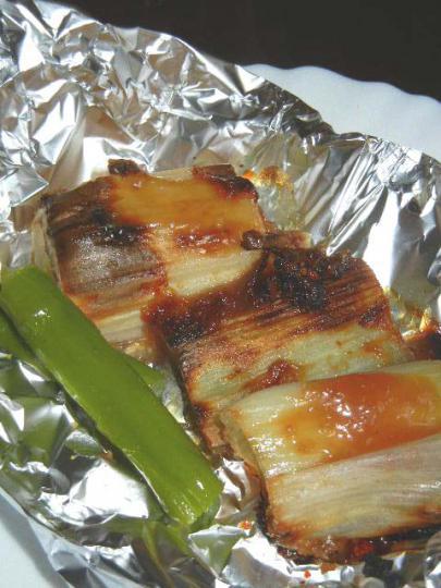 下仁田ねぎの味噌焼き