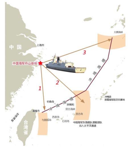 中国軍 海峡通過ルート 20121129085824737