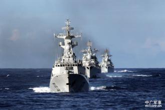 中国東海2411-12海軍東海艦隊驅護艦編隊航行