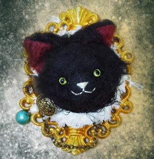 黒猫壁掛け