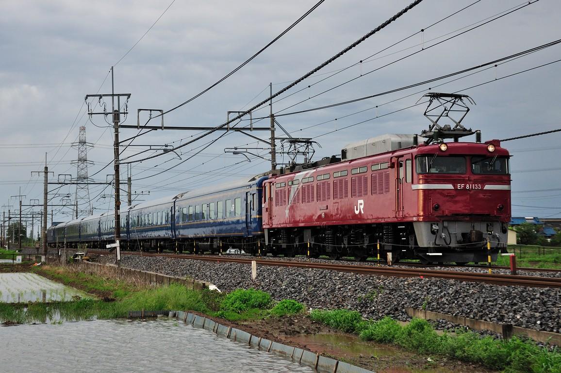 2012.05.06 1609_24(3) 栗橋~東鷲宮 試9502レ EF81 133+24系ts
