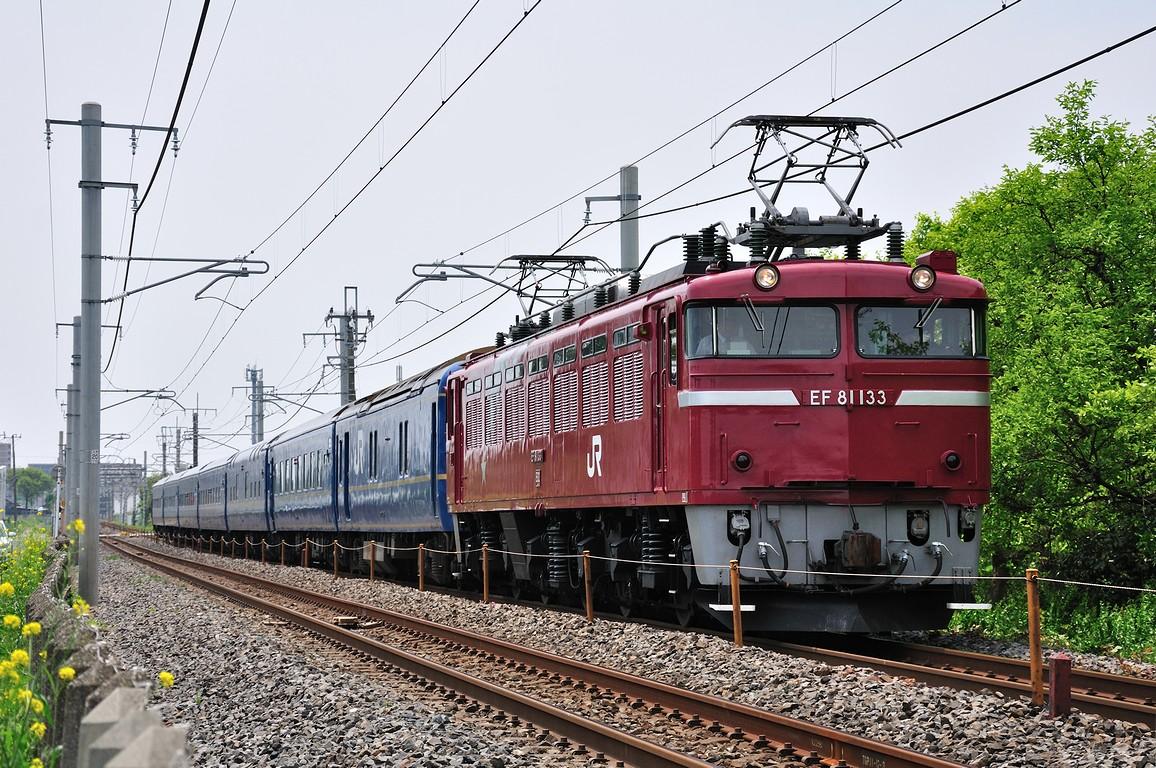 2012.05.07 1117_50(2) 久喜~新白岡 試9501レ EF81 133+24系ts