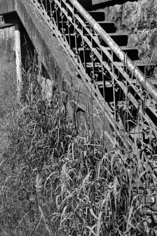 インクラインからの階段