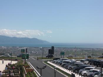 駿河湾沼津SA上り線からの眺め