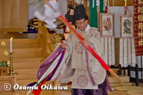 本別稲荷神社 松前神楽 榊舞